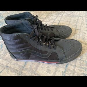 Vans All Black high top. Men's US 13